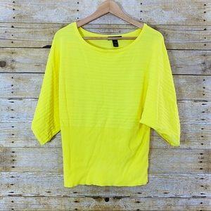 Style & Co Shirt Batwing Bright Yellow Size Large